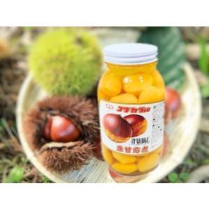 栗甘露煮 M 2ポンド瓶 (約30〜35粒 固形量630g 瓶込:約1.6kg) (くり マロン クリ甘露煮) [常温]|yukawa-netshop