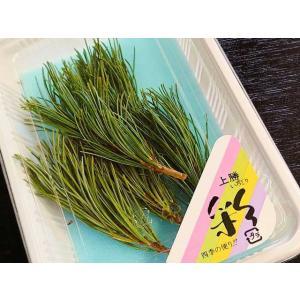 徳島産 阿波産 五葉松 パック入(約5本 松の枝  マツ あしらい 緑色 おせち) [冷蔵]|yukawa-netshop