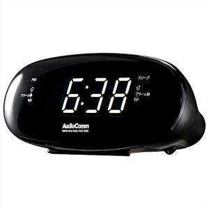 オーム電機 AudioComm AM/FMクロックラジオ ブラック RAD-T220N 03-722...