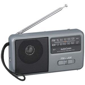 OHM AM/FM コンパクトポータブルラジオ [RAD-F1771M] シルバー