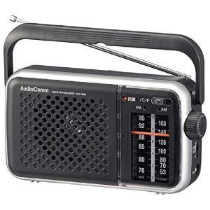 オーム電機 AudioComm AM/FMポータブルラジオ ブラック RAD-T450N 03-55...