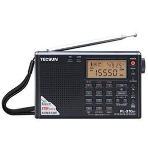 短波/AM/FM DSP処理 BCLラジオ TECSUN PL-310ET(ブラック) ★海外短波ラ...