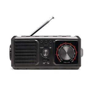 [リラックス] RELAX エマージェンシーラジオ 多機能 防災 ラジオ (ブラック)