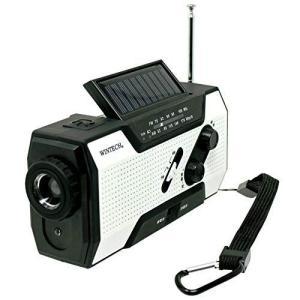 WINTECH 防災用 防滴手回し充電 FM/AMポータブルラジオ KDR-201WP LEDライト...