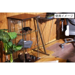 4面 ガラス コレクションケース 3段  <ガラス 透明 フィギュア コレクション 趣味 ディスプレイ 収納 飾る ラック キャビネット 人気 BOX 96049> yukimi-kagu 18