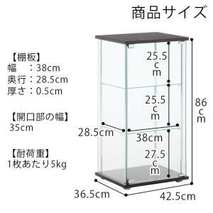 4面 ガラス コレクションケース 3段  <ガラス 透明 フィギュア コレクション 趣味 ディスプレイ 収納 飾る ラック キャビネット 人気 BOX 96049> yukimi-kagu 21