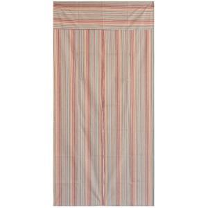 送料無料 和風綿のれん こはく175cm丈のロングサイズ しじら織の生地を使った綿のれん 85センチ×175センチtoo21559ベージュの写真