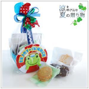 お中元や夏のギフトにクッキー・焼き菓子詰め合わせ「ENJOY★SUMMER カエル」 1080円|yukiusagi