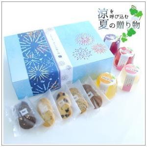 【お中元に】国産・産直ごろっと果実のゼリーと焼き菓子の詰め合わせ〜夏ギフト なつはな 2,656円|yukiusagi