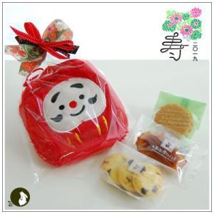 正月のお年賀特集:クッキー・焼菓子詰合せ 「ふわふわダルマ 赤」 998円|yukiusagi