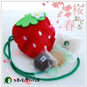 春のギフト〜苺モチーフのクッキー・焼菓子詰合せ 限定60個「いちごポシェット」 1080円|yukiusagi