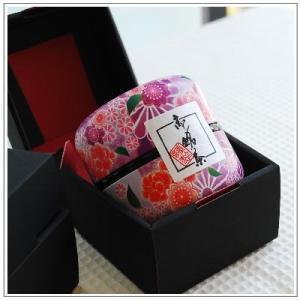 【深蒸し茶】お茶:高級深蒸し茶「なつめ缶」80g 紫なつめ缶1本 箱入り|yukiusagi