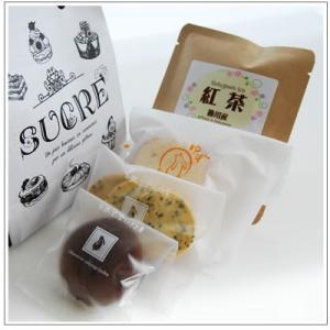 バレンタインのお返しに:ホワイトデーのクッキー・焼菓子詰合せ「モノクロシュクル」 788円|yukiusagi|03