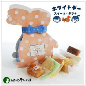 バレンタインのお返しに:ホワイトデーのクッキー・焼菓子詰合せ「シマドットバニー」 851円|yukiusagi