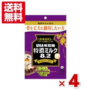 味覚糖 機能性表示食品 特濃ミルク8.2 ラムレーズン 4袋セット (ポイント消化) メール便全国送料無料|yukkun-reitou