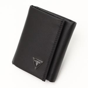 メンズ財布 人気ブランド ゲス-GUESS- 軽量 3つ折り レザー財布 本革 USA直輸入モデル メンズギフト 31GU11X011 送料無料|yukyuno-tabibito