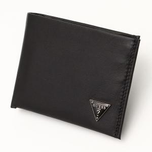 メンズ財布 人気ブランド ゲス-GUESS- パスケース付き ダブル札入れ 軽量 2つ折り レザー 財布 本革 USA直輸入モデル メンズギフト 31GU22X030 送料無料|yukyuno-tabibito