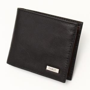 メンズ財布 人気ブランド ゲス-GUESS- パスケース&カードホルダー付き ダブル札入れ  2つ折り  本革 財布 USA直輸入モデル メンズギフト 31GU22X018 送料無料|yukyuno-tabibito