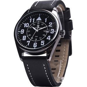 メンズ時計 アメリカブランドウォッチ S&Wスミス&ウェッソン シビリアン・レザーバンドウォッチ SWW-6063 USA直輸入モデル 送料無料|yukyuno-tabibito