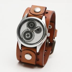 メンズ時計 アメリカブランドウォッチ アメリカンレザーカフ NEMESIS ネメシス ギアデザインウォッチ 本革 B112S B112K USA直輸入モデル 送料無料|yukyuno-tabibito