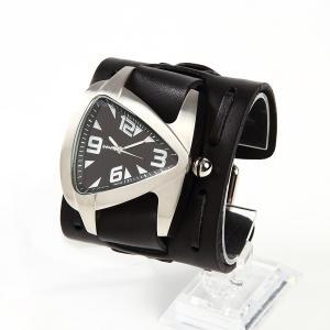 メンズ時計 アメリカブランドウォッチ アメリカンレザーカフ NEMESIS ネメシス ティアドロップウォッチ WXB011K USA直輸入モデル 送料無料|yukyuno-tabibito