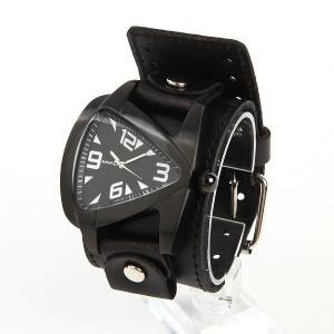 メンズ時計 アメリカブランドウォッチ アメリカンレザーカフ NEMESIS ネメシス ティアドロップウォッチ オールブラックモデル LBBW061W USA直輸入 送料無料|yukyuno-tabibito