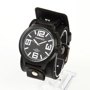 メンズ時計 アメリカブランドウォッチ アメリカンレザーカフ  NEMESIS ネメシス ラウンドウォッチ IP加工 オールブラックモデル LBBW040W USA直輸入 送料無料|yukyuno-tabibito