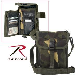 キャンバスバッグ ミニショルダーバッグ パスポートケース ロスコ ROTHCO トラベル ポーチ 旅行用品 2325 2125 USA直輸入モデル 送料無料|yukyuno-tabibito