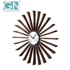 George Nelson ジョージ・ネルソン 壁掛け時計 フラッター・クロック GN001 木製 ...