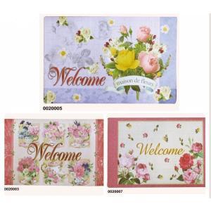【仕様用途】 入口は、店舗、オフィス、家の「顔」です!  とっても華やかな薔薇柄のドアマットで、玄関...