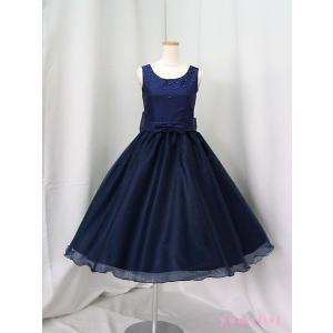 高級子供ドレス 受注生産 ゆめりすと プリンセス・アド III ネイビー|yume-list