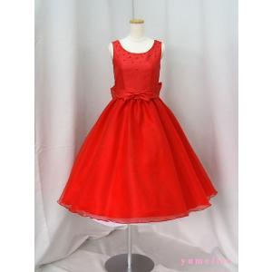 高級子供ドレス 受注生産 ゆめりすと プリンセス・アド III レッド|yume-list