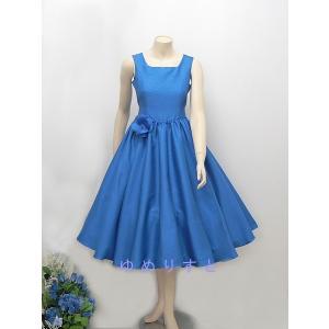 高級子供ドレス 受注生産 ゆめりすと オールシャンタンプリンセス ロイヤルブルー|yume-list