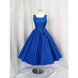 高級子供ドレス 受注生産 ゆめりすと オールシャンタンプリンセス ディープブルー|yume-list