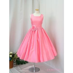 高級子供ドレス 受注生産 ゆめりすと オールシャンタンプリンセス スイートピンク|yume-list