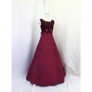 高級子供ロングドレス ゆめりすと オーロラss ボルドー 160 yume-list
