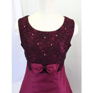 高級子供ドレス 受注生産 ゆめりすと オーロラss ボルドー|yume-list|02