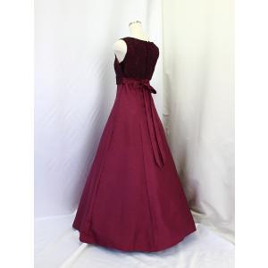 高級子供ドレス 受注生産 ゆめりすと オーロラss ボルドー|yume-list|03