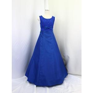 高級子供ロングドレス ゆめりすと オーロラss ミッドナイトブルー 160 yume-list