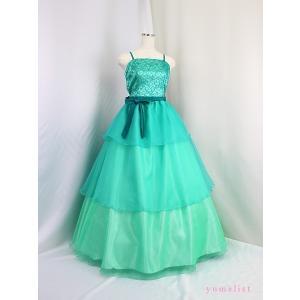 高級子供ドレス 受注生産 ゆめりすと ベルリナージュss ミントグリーン|yume-list