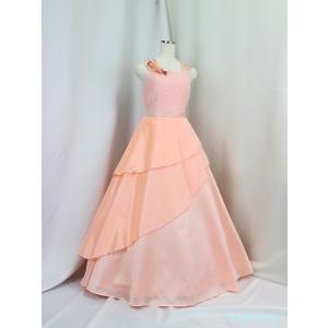 高級子供ロングドレス ゆめりすと ベルリナージュSE ピーチピンク 165 (数量限定品) yume-list