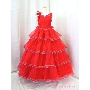 高級子供ドレス 受注生産 ゆめりすと カルメンv3 レッド 140サイズ以下|yume-list