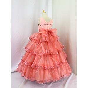 高級子供ドレス 受注生産 ゆめりすと カルメンv4  サーモンピンク 140サイズ以下|yume-list|03