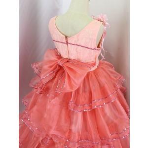 高級子供ドレス 受注生産 ゆめりすと カルメンv4  サーモンピンク 140サイズ以下|yume-list|04