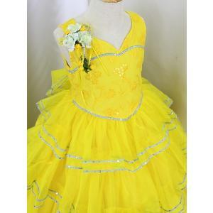 高級子供ドレス 受注生産 ゆめりすと カルメンv4  イエロー 140サイズ以下|yume-list|02