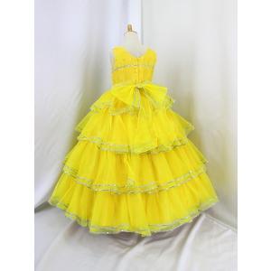 高級子供ドレス 受注生産 ゆめりすと カルメンv4  イエロー 140サイズ以下|yume-list|03