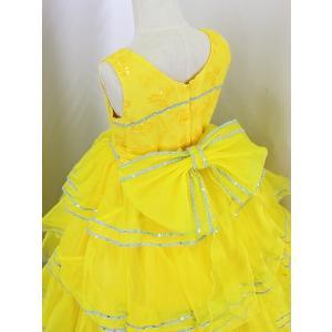 高級子供ドレス 受注生産 ゆめりすと カルメンv4  イエロー 140サイズ以下|yume-list|04