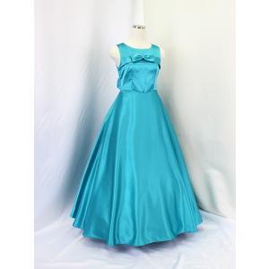 高級子供ロングドレス ゆめりすと エントラータ・RS ターコイズブルー 130|yume-list