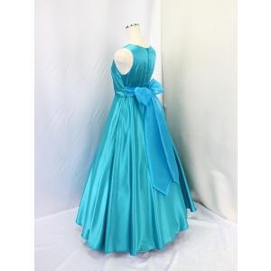 高級子供ロングドレス ゆめりすと エントラータ・RS ターコイズブルー 130|yume-list|03