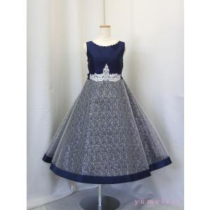 高級子供ドレス ゆめりすと クランジェラv4 ネイビー 160 ワイド|yume-list